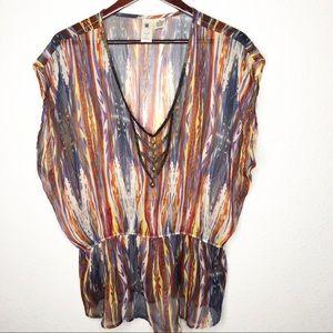 Needle & Thread Multicolored Beaded Blouse Medium